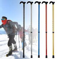 Aluminum Metal Telescopic Walking Stick Pole Cane Hiking Handle Travel Folding