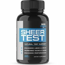 Sheer Testosterone Booster for Men - Natural Supplement for Increasing Streng...