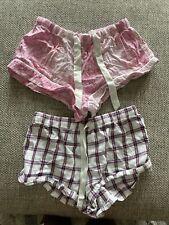 VICTORIA SECRET Lot of 2 Ladies Boxer Pajama Shorts Size S