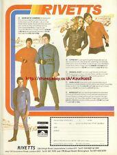 Rivetts Clothing Motorcycle 1977 Magazine Advert #2825