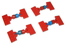 LEGO® Eisenbahn 4,5V 4x Kupplung mit Magnet rot/blau aus 160, Magnetic Couplings