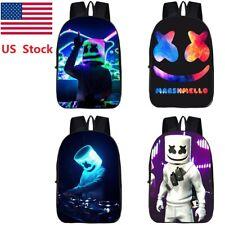 US Ship DJ Print Backpack Marshmallow Unisex Schoolbag Shoulder Bag Knapsack