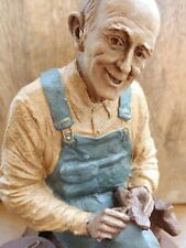 Tom Clark 1985 Signed Gnome ~ Uncle Whit ~ #87 and #1083 - Sitting and Whittling