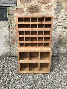 Vintage Shop Fitting / Pigeon Hole Unit / Store Cupboard