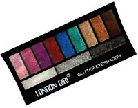 London Girl Glitter Sparkle Eyeshadow Palette 12 Stunning Colours