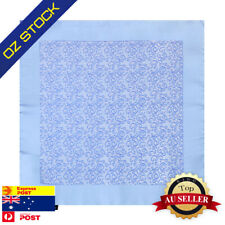 Sky Blue Mens Wedding Pocket Square Patterned Fashion Hanky Epoint EEHB0305
