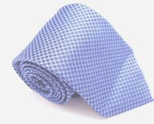 $125 CALVIN KLEIN Mens WHITE BLUE SKINNY NECK TIE CHECK POLKA DOT NECKTIE 58X3