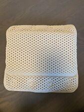 Non-Slip Foam Spa Bath Pillow Suction Soft Luxurious White