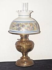 GONE WITH THE WIND A VINTAGE ORNATE BRASS ELECTRIC OIL BURNER HURRICANE LAMP