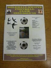 21/08/2012 Bolehall Swifts v Walsall Wood  (folded). Thanks for viewing this ite