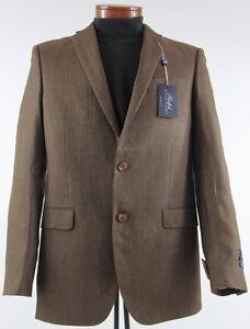 Men's RALPH LAUREN Brown Silk Wool Jacket Blazer 40L 40 Long NWT NEW Slim Fit