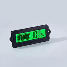 12V 24V BATTERY TESTER CAPACITY MONITOR LCD PANEL MOUNT LEAD-ACID LOW-PROFILE