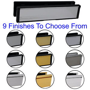 Letter Box Plate UPVC Composite Front Door INTUMESCENT Fire Rated Draft Proof