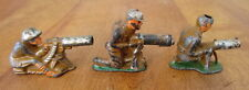 Lot of 3 different Barclay Manoil Machine Gunners lead soldiers