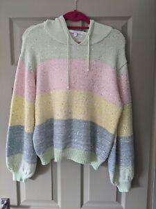 Olivia Rubin Hooded Rainbow Knit Jumper. Size Small. Worn Once.