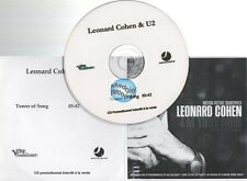 U2 & Leonard Cohen Tower Of Song CD PROMO france french b&w paper sleeve