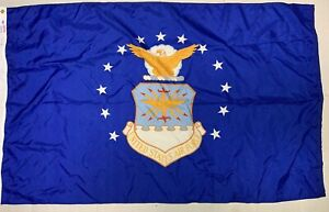 Valley Forge Air Force Flag 3x5 Ft Outdoor Nylon Made in USA Preowned