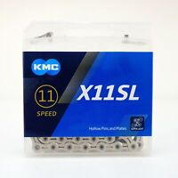 KMC X11SL Bike Chain Retail Pack 11 Speed Shimano/SRAM/Campagnolo 118Link Silver
