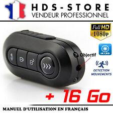 TÉLÉCOMMANDE CLÉ DE VOITURE CAMÉRA ESPION TCHD1 FULL HD 1080P + 16 GO 2 LED IR