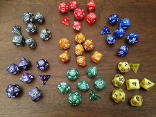 Pearl Multi sided dice set of 7 D4 D6 D8 D10 D12 D20 Dungeons D&D RPG Warhammer