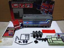 G1 Original Bloated Optimus Prime Convoy COMPLETE in Box NICE Metal Plates