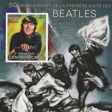 50th ANNIVERSARY BEATLES IN USA JOHN LENNON IMPERFORATED STAMP SHEETLET 2014