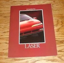 Original 1992 Plymouth Laser Sales Brochure 92