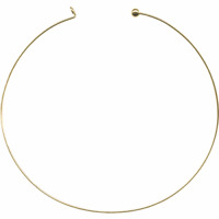 """Neckwire Choker Bead Wire Pendant Necklace Large Hole Collar Single or Set 18"""""""