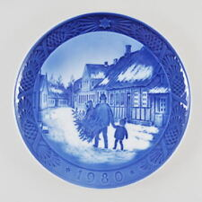 Royal COPENHAGEN PIATTO DI NATALE - 1980-PORCELLANA PIATTO-Christmas Plate