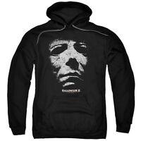Halloween II Movie Michael Myers MASK Licensed Adult Sweatshirt Hoodie