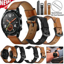 For Samsung Gear S3 Frontier Galaxy Watch 46mm Live R382 Leather Wristband Strap