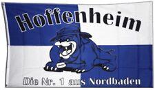 Fahne Flagge Fanflagge Hoffenheim Bulldogge - 90 x 150 cm Hissflagge