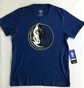47 Brand Dallas Mavericks NBA Short Sleeve T-Shirt Men's Size L Blue 404843 New