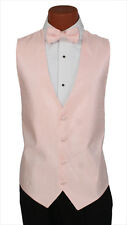X-Large Long Mens Petal Pink Onyx Wedding Party Prom Fullback Tuxedo Vest Formal
