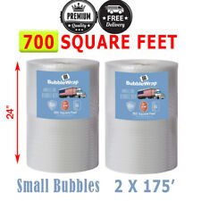 700 Square Feet Small Bubble Wrap Roll 24 Wide 316 Bubbles Perforated 12