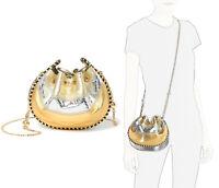 Marc Jacobs Sway Women's Metallic Leather Bucket Crossbody Shoulder Bag in GOLD