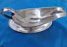Antique Meriden Britannia Co Sterling Silver 1850 Gravy Boat Server & Dish