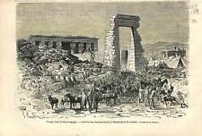Dendera Dandarah Lunet Tentyris Tentyra Hathor Temple UPPER EGYPT PRINT 1869