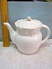Vintage White Fruit Gibson Japan Collection Himark Tea Coffee Pot