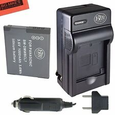 BM DMW-BCL7 Battery & Charger for Panasonic Lumix DMC-SZ3,SZ8,SZ10,XS1,FH10,F5