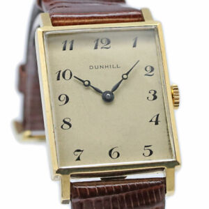 DUNHILL Square Breguet Numbers Ref.9009 Manual Vintage Watch 1960's Overhauled