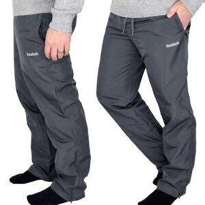 Reebok Herren Trainingshose Jogginghose Sport Hose Laufhose Outdoor grau graphit