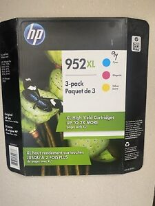 HP 952XL Original High Yield Ink Cartridge 3 pack Cyan Magenta, Yellow