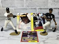 Starting Lineup Lot of 2 Frank Thomas Loose Figures w/ Cards 1993 & 1994 SLU
