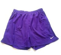 Nike Dry-Fit Men's Swimming Athletic Shorts Purple Drawstring Lined Size Large