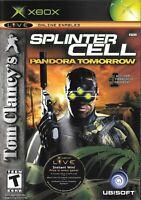 Xbox Platinum Hits Game: Tom Clancy's Splinter Cell: Pandora Tomorrow - Complete