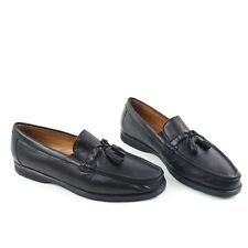Allen Edmonds Milano Tassel Loafers Soft Black Leather Made In Italy Size 11.5