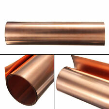 99.9% Pure Copper Metal Sheet Foil Plate 0.1 x 200 x 1000 mm Conductive Roll