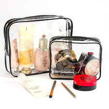 Toiletry Bags 3 in 1 Gift Makeup Bags & Cases Plastic Bag Clear PVC Travel PVC