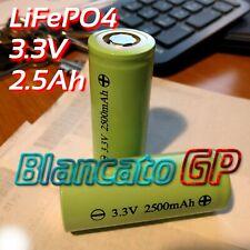 CELLA 26650 LiFePO4 2500mAh 3,3V DC ricaricabile batteria litio ferro fosfato